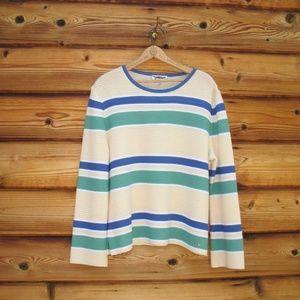 St. John Striped Wool Blend Pullover